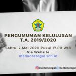 PENGUMUMAN KELULUSAN PESERTA DIDIK T.A. 2019/2020