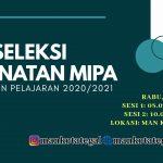 JADWAL TES SELEKSI PEMINATAN MIPA PPDB TP. 2020/2021