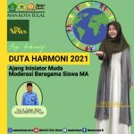 HASTHIN AULIA MELENGGANG DI AJANG MODERASI BERAGAMA 2021